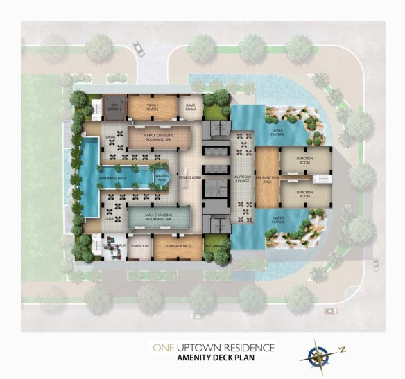 One Uptown Residence Amenities